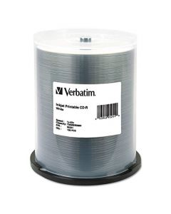 Verbatim CD-R 700MB 52X White Inkjet Printable Recordable Media Disc - 100pk Spindle 95251
