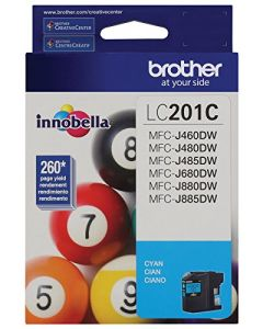 Brother LC201C Standard Yield Cyan Ink Cartridge LC201C