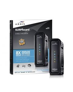ARRIS SURFboard (8x4) DOCSIS 3.0 Cable Modem approved for Cox Spectrum Xfinity & more (SB6141 Black) SB6141