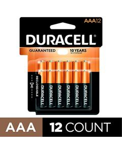 Duracell - CopperTop AAA Alkaline Batteries - long lasting all-purpose Triple A battery for household and business - 12 Count MN24RT12Z