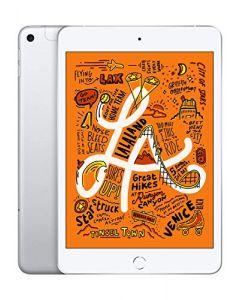 Apple iPad Mini (Wi-Fi + Cellular 64GB) - Silver (Latest Model) MUXG2LL/A
