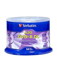 Verbatim DVD+R DL 8.5GB 8X with Branded Surface - 50pk Spindle 97000