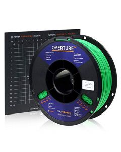 Overture PLA Plus (PLA+) Filament 1.75mm PLA Professional Toughness Enhanced PLA Roll with 3D Build Surface 200 × 200mm Premium PLA 1kg Spool (2.2lbs) Dimensional Accuracy +/- 0.05 mm (Green) OVB175-Green