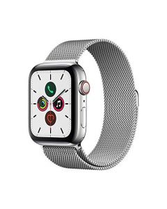 Apple Watch Series 5 (GPS+Cellular 44mm) -  Stainless Steel Case with Milanese Loop MWW32LL/A