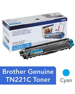Brother Genuine Standard Yield Toner Cartridge TN221C Replacement Cyan Color Toner Page Yield Up To 1,400 Pages Amazon Dash Replenishment Cartridge TN221 TN221C