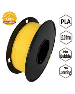 NOVAMAKER 3D Printer Filament - Yellow 1.75mm PLA Filament PLA 1kg(2.2lbs) Dimensional Accuracy +/- 0.03mm NV-PLA175-YE