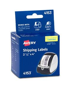 Avery Labels for Dymo Label Printers Same Size as Dymo 30323 Labels 2-1/8 x 4 Roll of 140 Labels (4153) 4153