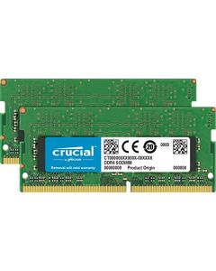 Crucial 32GB Kit (16GBx2) DDR4 2400 MT/s (PC4-19200) DR x8 SODIMM 260-Pin for Mac - CT2K16G4S24AM CT2K16G4S24AM