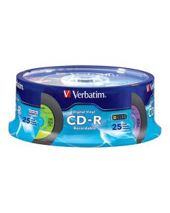 Verbatim CD-R 80min 52X with Digital Vinyl Surface - 25pk Spindle - 94488 94488