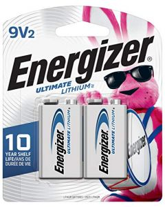 Energizer 9V Lithium Batteries Ultimate Lithium 9 Volt Batteries (2 Battery Count) L522BP-2