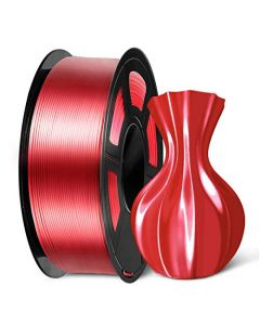 SUNLU PLA Silk Red Filament 1.75mm 3D Printer Filament Shiny Silk 1.75 PLA Filament 1kg(2.2Lbs)/Spool Red Silk PLA SLUS-SILK-LG-RED-1KG