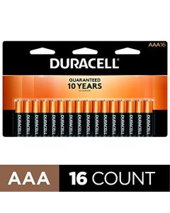 Duracell - CopperTop AAA Alkaline Batteries - long lasting all-purpose Triple A battery for household and business - 16 Count AAA-CTx16