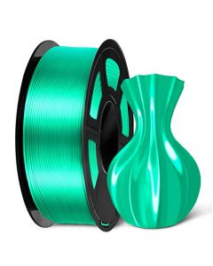 SUNLU PLA Silk Green Filament 1.75mm 3D Printer Filament Shiny Silk 1.75 PLA Filament 1KG(2.2LBS)/Spool Green Silk PLA SLUS-SILK-LG-GREEN-1KG