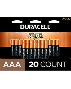 Duracell - CopperTop AAA Alkaline Batteries - long lasting all-purpose Triple A battery for household and business - 20 Count MN2400B20