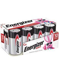 Energizer Max C Batteries Premium Alkaline C Cell Batteries (8 Battery Count) - Packaging May Vary E93FP-8