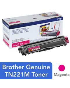 Brother TN-221M DCP-9015 9020 HL-3140 3150 3170 3180 MFC-9130 9140 9330 9340 Toner Cartridge (Magenta) in Retail Packaging TN221M
