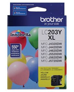 Brother LC-203YXL DCP-J4120 J562 MFC-J4320 4420 460 4620 4625 480 485 5320 5520 5620 5720 680 880 885 Ink Cartridge (Yellow) in Retail Packaging LC203Y