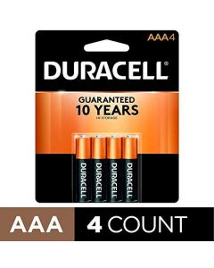 Duracell - CopperTop AAA Alkaline Batteries - long lasting all-purpose Triple A battery for household and business - 4 Count MN2400B4Z