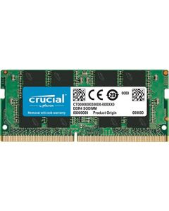 Crucial 8GB Single DDR4 2400 MT/S (PC4-19200) SR x8 SODIMM 260-Pin Memory - CT8G4SFS824A CT8G4SFS824A