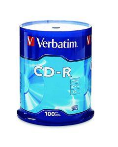Verbatim CD-R 700MB 80 Minute 52x Recordable Disc - 100 Pack Spindle - 94554 94554