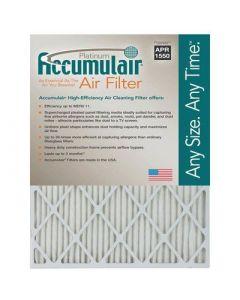 16X24X1 (15.75 x 23.75) Accumulair Platinum 1-Inch Filter (MERV 11) (4 Pack) FA16X24_4