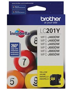 Brother LC201Y Standard Yield Yellow Ink Cartridge LC201Y