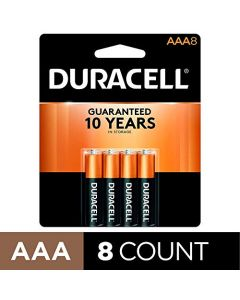 Duracell - CopperTop AAA Alkaline Batteries - long lasting all-purpose Triple A battery for household and business - 8 Count AAA-CTx8