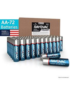 Rayovac AA Batteries Alkaline Double A Batteries (72 Battery Count) 815-72BX