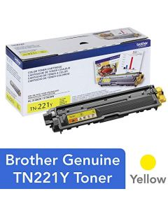 Brother Genuine Standard Yield Toner Cartridge TN221Y Replacement Yellow Color Toner Page Yield Up To 1,400 Pages Amazon Dash Replenishment Cartridge TN221 TN221Y