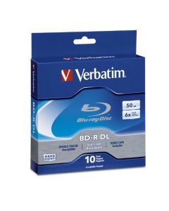 Verbatim BD-R 50GB 6X Blu-ray Recordable Media Disc - 10 Pack Spindle 97335