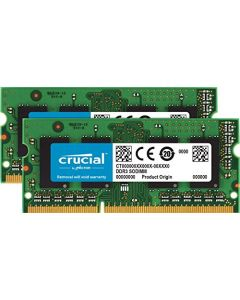 Crucial 16GB Kit (8GBx2) DDR3/DDR3L 1600 MT/s (PC3-12800) SODIMM 204-Pin Memory For Mac - CT2K8G3S160BM CT2K8G3S160BM