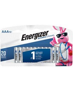 Energizer AAA Lithium Batteries Ultimate Lithium Triple A Battery (12 Count) Longest-Lasting AAA Battery L92SBP-12