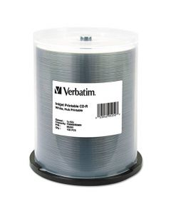 Verbatim CD-R 700MB 52X White Inkjet Hub Printable Recordable Media Disc - 100pk Spindle 95252