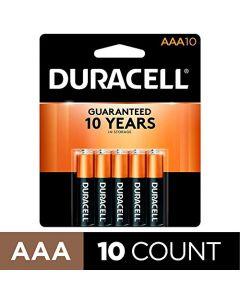 Duracell - CopperTop AAA Alkaline Batteries - long lasting all-purpose Triple A battery for household and business - 10 count MN2400B10Z