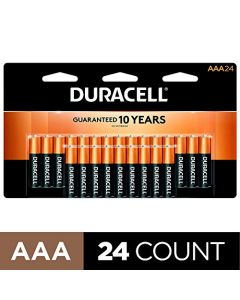 Duracell - CopperTop AAA Alkaline Batteries - long lasting all-purpose Triple A battery for household and business - 24 Count MN2400B24