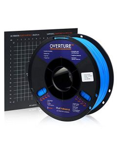Overture PLA Plus (PLA+) Filament 1.75mm PLA Professional Toughness Enhanced PLA Roll with 3D Build Surface 200 × 200mm Premium PLA 1kg Spool (2.2lbs) Dimensional Accuracy +/- 0.05 mm (Blue) OVB175-Blue