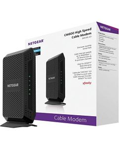 NETGEAR Cable Modem CM600 - Compatible with Cable Providers Including Xfinity by Comcast Spectrum Cox | for Cable Plans Up to 400 Mbps | DOCSIS 3.0 | 24x8 CM600-100NAS