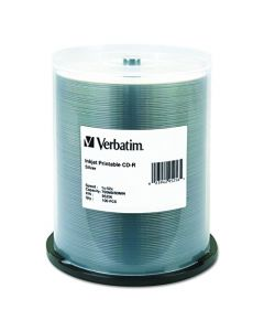 Verbatim CD-R 700MB 52X Silver Inkjet Printable Recordable Media Disc - 100pk Spindle 95256