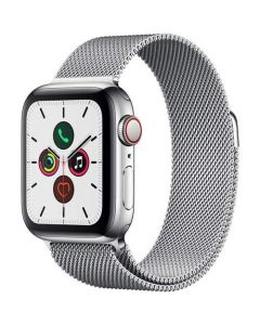Apple Watch Series 5 (GPS+Cellular 40mm) -  Stainless Steel Case with Milanese Loop MWWT2LL/A