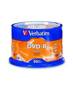 Verbatim DVD-R 4.7GB 16x AZO Recordable Media Disc - 50 Disc Spindle 95101