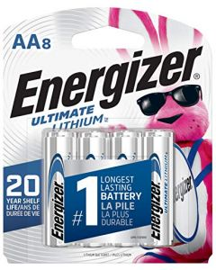 Energizer AA Lithium Batteries World's Longest Lasting Double A Battery Ultimate Lithium (8 Battery Count) L91SBP-8