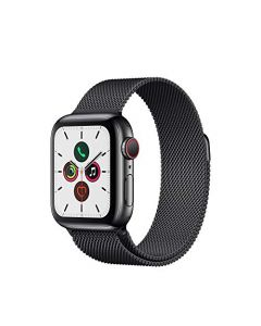 Apple Watch Series 5 (GPS + Cellular 40mm) - Space Black Stainless Steel Case with Black Milanese Loop MWWX2LL/A