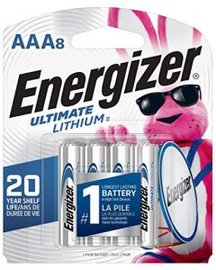 Energizer AAA Lithium Batteries Ultimate Lithium Triple A Battery (8 Count) Longest-Lasting AAA Battery L92SBP-8