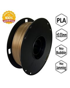 NOVAMAKER 3D Printer Filament - Gold 1.75mm PLA Filament PLA 1kg(2.2lbs) Dimensional Accuracy +/- 0.03mm NV-PLA175-GD
