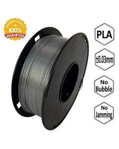 NOVAMAKER 3D Printer Filament - Silver 1.75mm PLA Filament PLA 1kg(2.2lbs) Dimensional Accuracy +/- 0.03mm NV-PLA175-SI