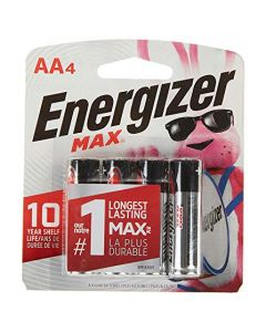 Energizer AA Batteries (4 Count) Double A Max Alkaline Battery E91BP-4