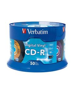Verbatim CD-R 80min 52X with Digital Vinyl Surface - 50pk Spindle 94587