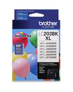 Brother Genuine High Yield Black Ink Cartridge LC203BK Replacement Black Ink Page Yield Up To 550 Pages Amazon Dash Replenishment Cartridge LC203 LC203BK