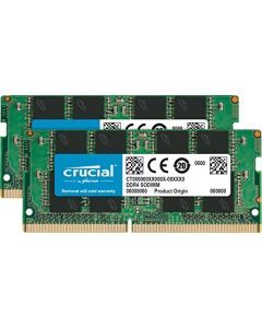 Crucial 16GB Kit (8GBx2) DDR4 2666 MT/s (PC4-21300) SR x8 SODIMM 260-Pin Memory - CT2K8G4SFS8266 CT2K8G4SFS8266