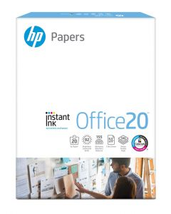 HP Printer Paper, Office20 Paper, 8.5 x 11 Paper, Letter Size, 92 Bright - 1 Ream / 500 Sheets (112150R)